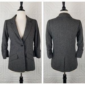 By Corpus Grey Tweed Boyfriend Blazer 3/4 Sleeves